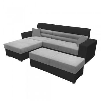 Canapé d'angle + tabouret...