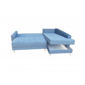 Canapé d'angle LESLO II bleu