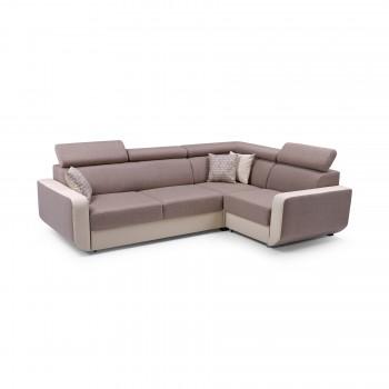 Canapé d'angle CELINE MARRON