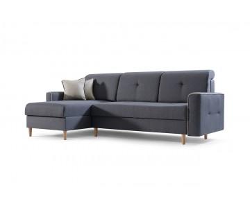 Canapé d'angle MIKA Gris foncé
