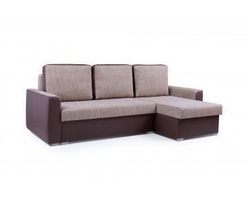 Canapé d'angle SILVA Marron