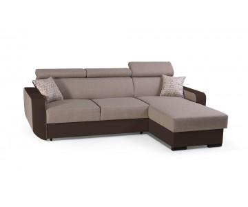 Canapé d'angle PEDRO Marron