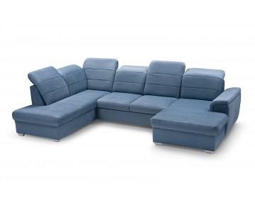 Canapé d'angle MORGAN U (Bleu)