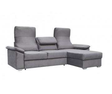 Canapé d'angle FULDA (Gris)