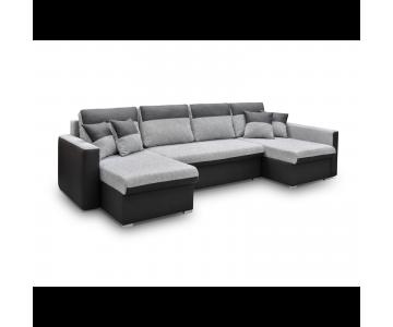 Canapé d'angle BERLIN U (Noir)