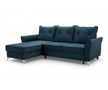 Canapé d'angle-BOLO (Bleu)