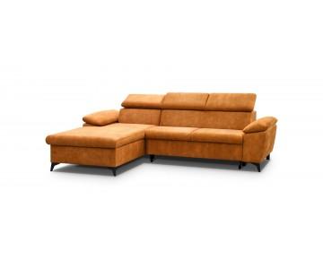 Canapé d'angle-LORIN (Orange)