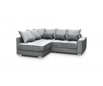Canapé d'angle-LISSA (Gris)