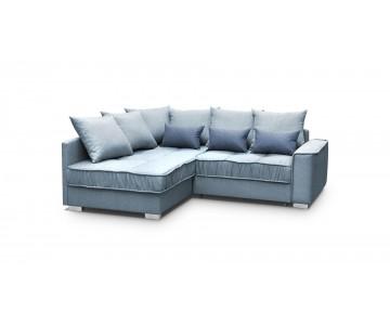 Canapé d'angle-LISSA (Bleu)