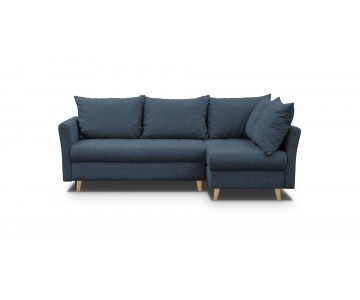 Canapé d'angle-AMIGO (Bleu...
