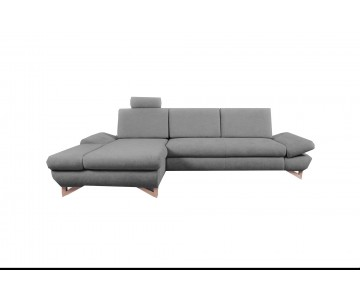 Canapé d'angle-MERIDA (Gris...