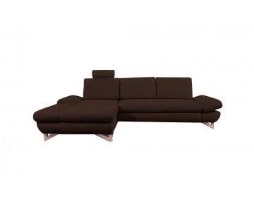 Canapé d'angle-MERIDA (Marron)