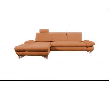 Canapé d'angle-MERIDA (Orange)