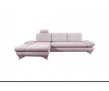 Canapé d'angle-MERIDA (Rose)