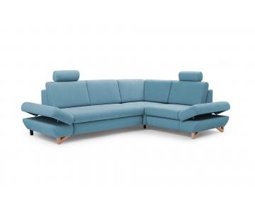 Canapé d'angle-MERIDA 2 (Bleu)