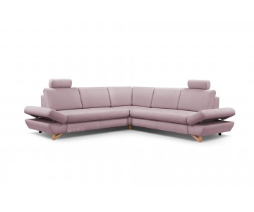Canapé d'angle-MERIDA 3 (Rose)