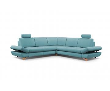 Canapé d'angle-MERIDA 3 (Bleu)