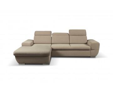 Canapé d'angle-FRESNO (Beige)