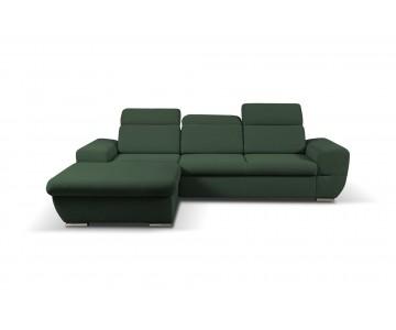 Canapé d'angle-FRESNO (Vert...