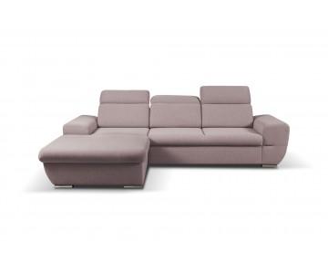 Canapé d'angle-FRESNO (Rose)