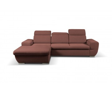 Canapé d'angle-FRESNO (Rouge)