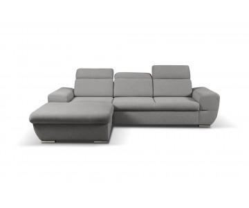 Canapé d'angle-FRESNO (Gris)