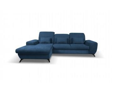 Canapé d'angle-CORSE (Bleu...