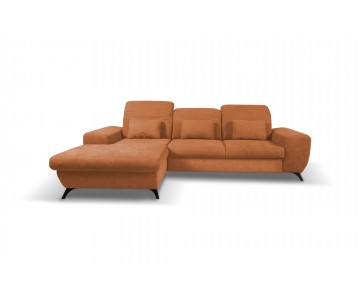 Canapé d'angle-CORSE (Orange)