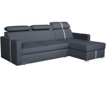 Canapé d'angle TOLEDO(Gris...