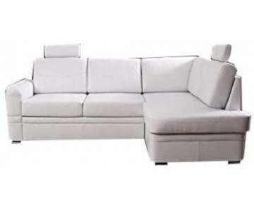 Canapé d'angle-BEND (Blanc,...