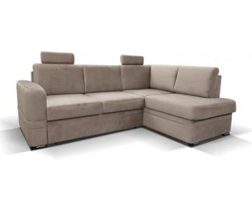 Canapé d'angle-BEND (Beige,...