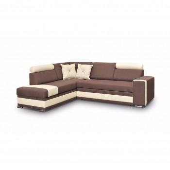 Canapé d'angle Jackson Marron
