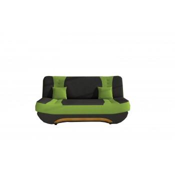 Canapé Feba - Noir + vert