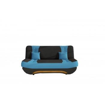 Canapé Feba - Noir + bleu