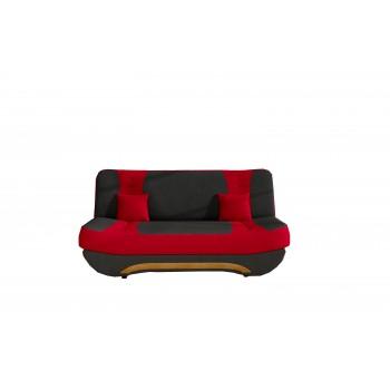 Canapé Feba - Rouge + noir