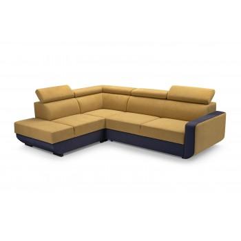 Canapé d'angle - VITAL - JAUNE