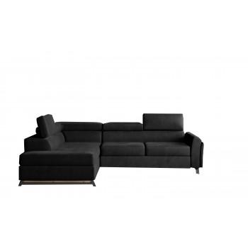 Canapé d'angle - CYRUS - Noir